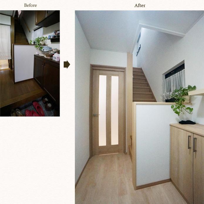 明るい玄関にイメージチェンジ